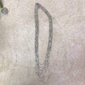 American Eagle silver beaded necklace